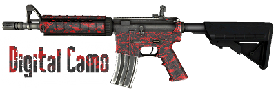 СКИН ОРУЖИЯ RED DIGITAL M4A1 ДЛЯ CS: GLOBAL OFFENSIVE
